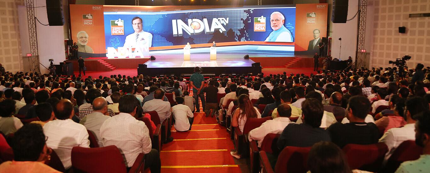 PM Modi with Rajat Sharma at India TV's Salaam India