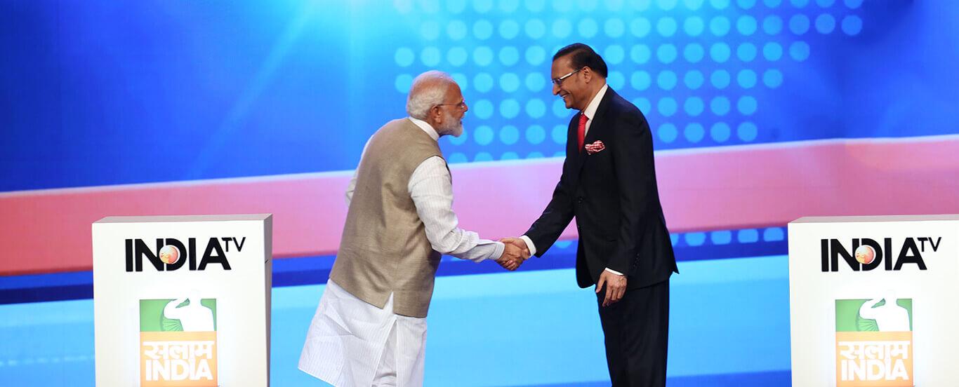 Narendra Modi with Rajat Sharma