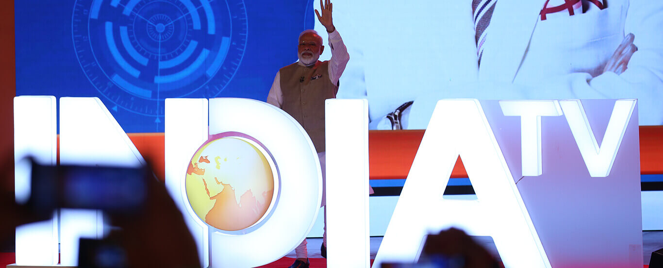 PM Modi at India TV mega show